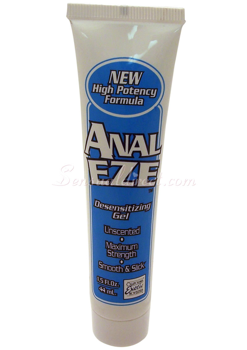 Anal desensitizing lube