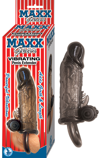 Maxx Gear Vibrating Penis Extender Black